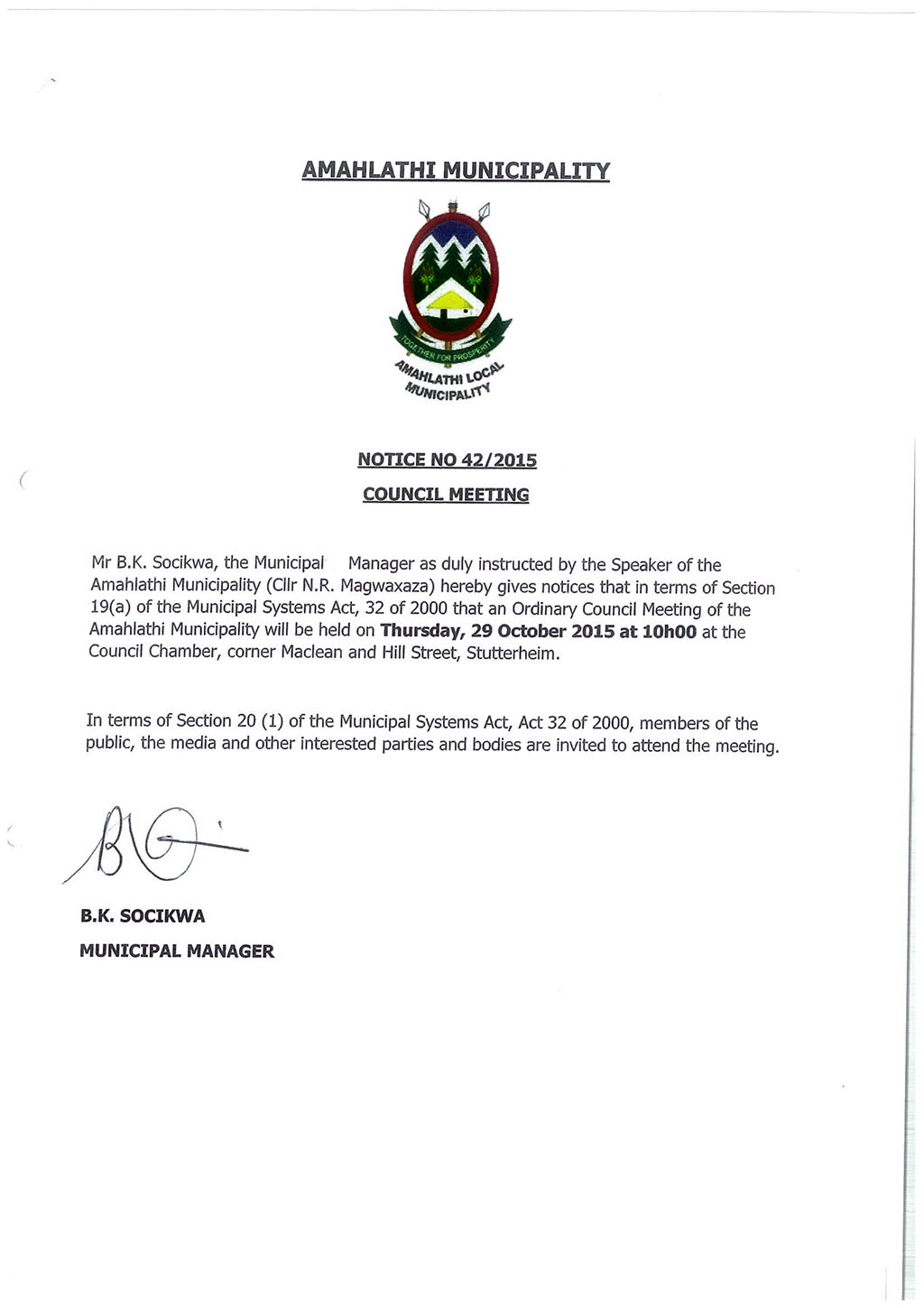 Council Meeting 29 October 2015-1