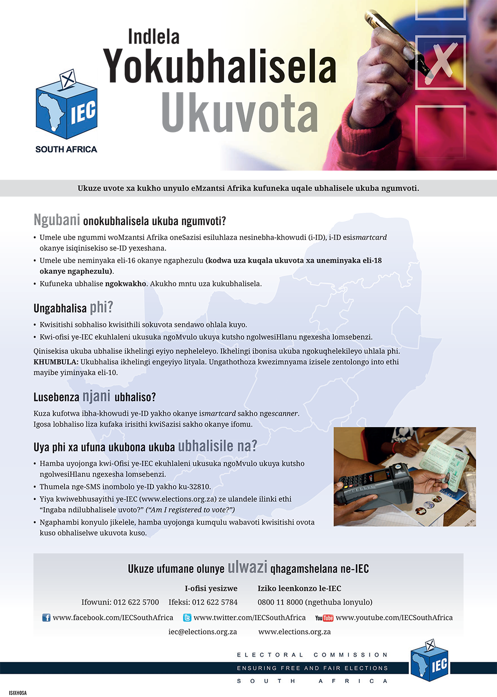 IEC Poster - How to Register Xhosa